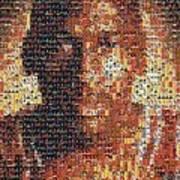 Michael Jordan Card Mosaic 1 Art Print
