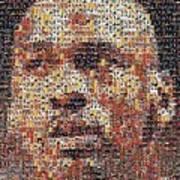 Michael Jordan Card Mosaic 3 Art Print by Paul Van Scott