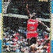 Michael Jordan Rookie Mosaic Art Print by Paul Van Scott