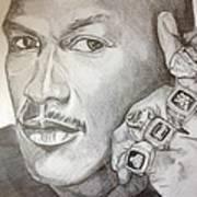 Michael Jordan Six Rings Legacy Art Print by Keith Evans
