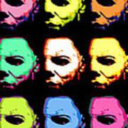 Michael Myers Mask Pop Art Art Print