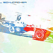 Michael Schumacher Print by Naxart Studio
