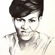 Michelle Obama Print by A Karron
