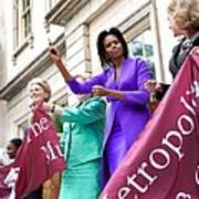 Michelle Obama Cuts The Ribbon Art Print