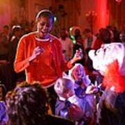 Michelle Obama Dancing With Children Art Print
