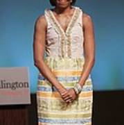 Michelle Obama In Attendance For Lady Art Print by Everett