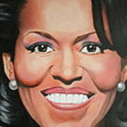 Michelle Obama Art Print by Timothe Winstead
