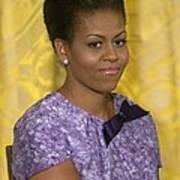Michelle Obama Wearing An Anne Klein Art Print by Everett