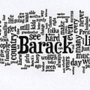 Michelle Obama Wordcloud At D N C Print by David Bearden