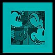 Mickey In Turquois Art Print
