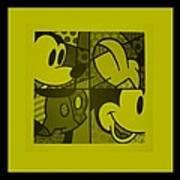 Mickey In Yellow Art Print