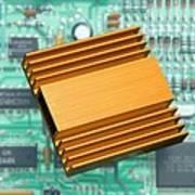 Microchip Processor Heat Sink Art Print by Sheila Terry
