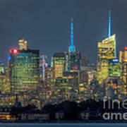 Mid-town Manhattan Twilight I Art Print