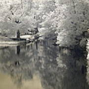 Middle River In Infrared Art Print