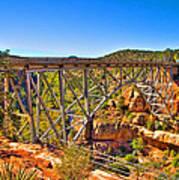 Midgley Bridge Sedona Arizona Art Print