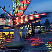 Midway Blur Art Print