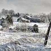 Midwestern Ice Storm - D004825 Art Print