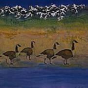 Migration Series Geese 2 Art Print by Carolyn Doe