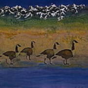 Migration Series Geese 2 Art Print