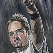 Mike Piazza Art Print by David Courson