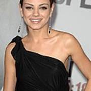 Mila Kunis Wearing Neil Lane Earrings Print by Everett