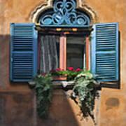 Milano Apartment Window Art Print
