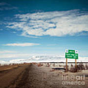 Milepost At The Dempster Highway Art Print
