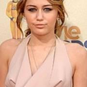 Miley Cyrus Wearing A Moschino Cheap & Art Print