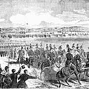 Militia Review, 1859 Art Print