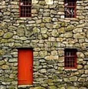 Mill House Over Stream Art Print