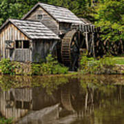 Mill Pond Reflection Art Print