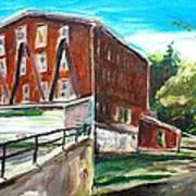 Millbury Mill Art Print by Scott Nelson