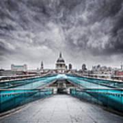 Millenium Bridge London Art Print
