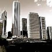 Millenium Park Skyscrapers Art Print