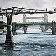 Millennium Bridge London Art Print