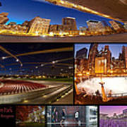 Millennium Park Photo Collage Art Print