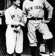 Miller Huggins, And Babe Ruth, Circa Print by Everett