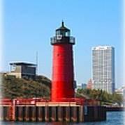 Milwaukee Harbor Lighthouse Art Print