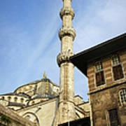 Minaret Of The Blue Mosque Art Print