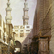 Minarets And Grand Entrance Of The Metwaleys At Cairo Art Print