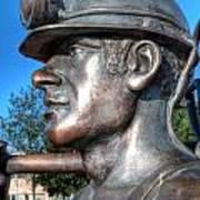 Miner Statue Art Print
