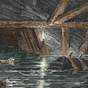 Mining Disaster, 19th Century Art Print