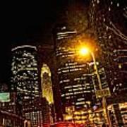 Minneapolis Night Lights Art Print