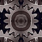 Mirror Gears Art Print