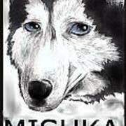 Mishka Fan Poster Art Print