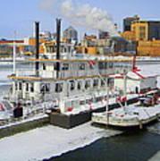 Mississippi Riverboat Art Print