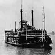 Mississippi Steamboat, 1926 Art Print