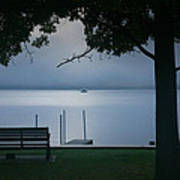 Mist On The Lake Art Print by Steven Ainsworth