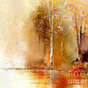 Misty Autumn Morn Art Print
