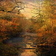 Misty Autumn Morning Art Print